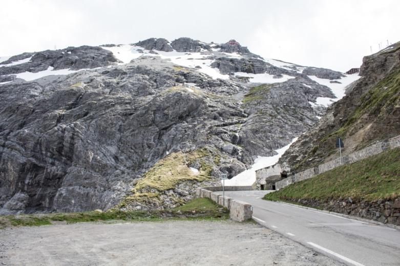 Ostatnie metry przed przęłęczą Stelvio